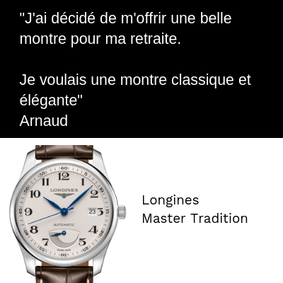 Longines Master Tradition 60 ans Anniversaire Retraite