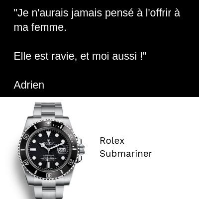 Rolex Submariner femme Anniversaire Cadeau