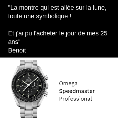 Omega Speedmaster Professional Anniversaire 25 ans Moonwatch Première montre