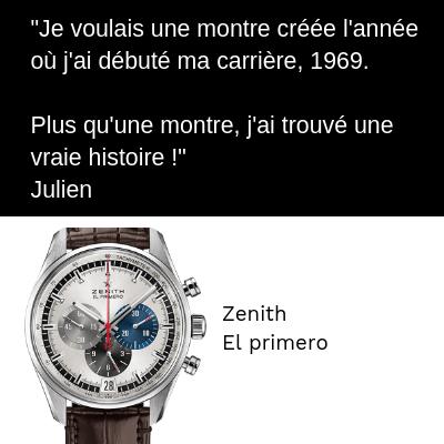 Zenith El Primero Chrono 50 ans Carriere Cadeau
